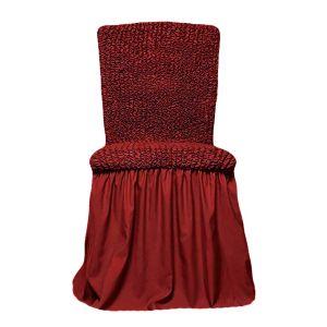 Чехол на стул с оборкой,Бордовый