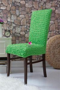Набор чехлов для стульев 6 шт без оборки,Салатовый
