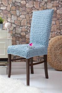 Чехол на стул без оборки ,Голубой