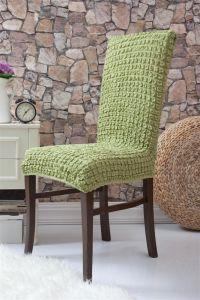 Чехол на стул без оборки ,Молодая зелень