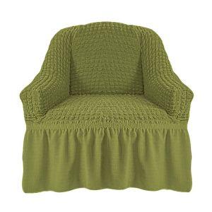 Чехол на кресло с оборкой (1шт.) К 029,молодая зелень