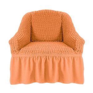 Чехол на кресло с оборкой (1шт.) К 029,коралловый