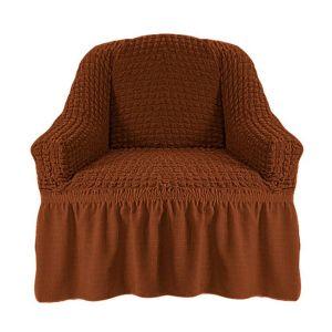 Чехол на кресло с оборкой (1шт.) К 029,темно-рыжий