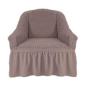 Чехол на кресло с оборкой (1шт.) К 029,Жемчужный
