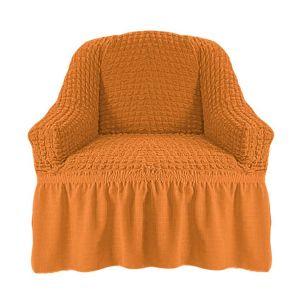 Чехол на кресло с оборкой (1шт.) К 029,рыжий