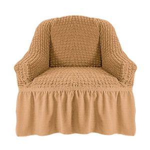 Чехол на кресло с оборкой (1шт.) К 029,медовый
