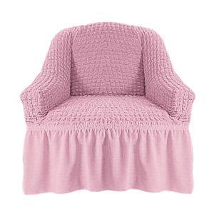 Чехол на кресло с оборкой (1шт.) К 029, Светло-розовый