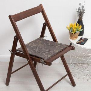 Сидушка на стул жаккард бамбук зеленый 40х40х1,5 5247919