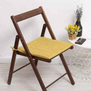 Сидушка на стул двусторонняя, цвет оливка/однотонная 40х40х1,5см