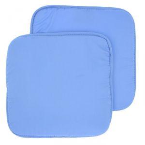 Набор подушек на стул - 2 шт., размер 34х34 см, цвет небесный