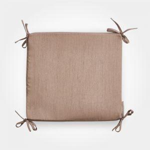 Сидушка на стул бамбук коричневый 34х34х1,5см, жаккард, поролон, пэ100% 4855568