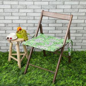 Подушка на стул уличная «Этель» Геометрия, 45?45 см, репс с пропиткой ВМГО, 100% хлопок