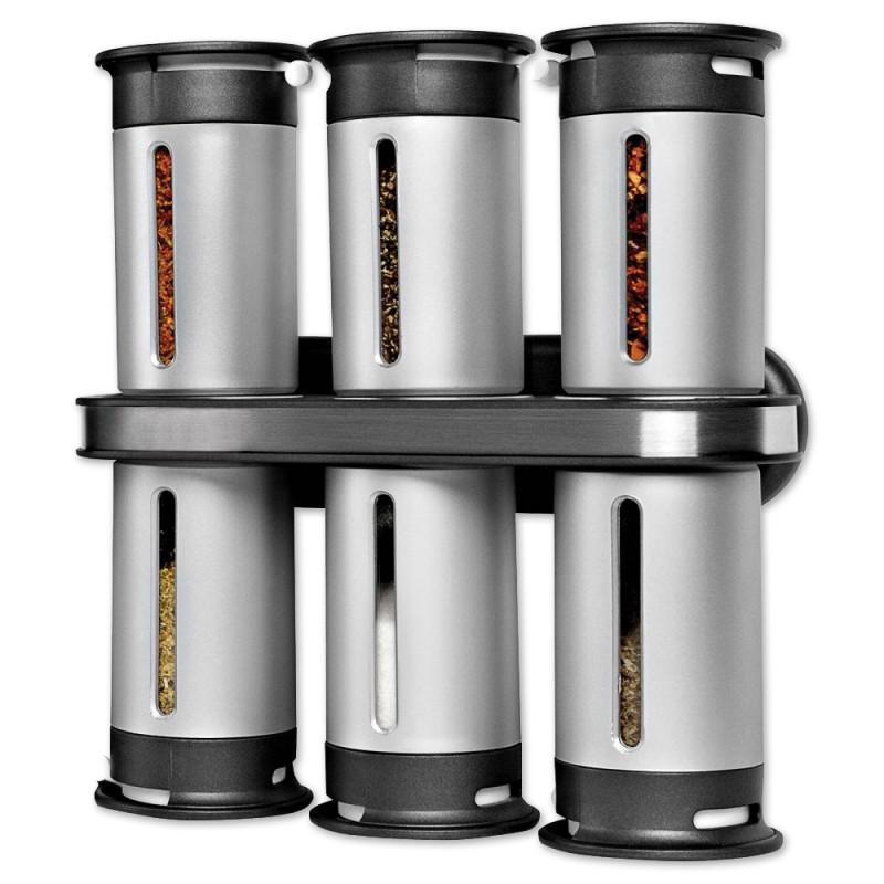Набор для специй с магнитным держателем Magnetic Spice Rack (6 предметов)
