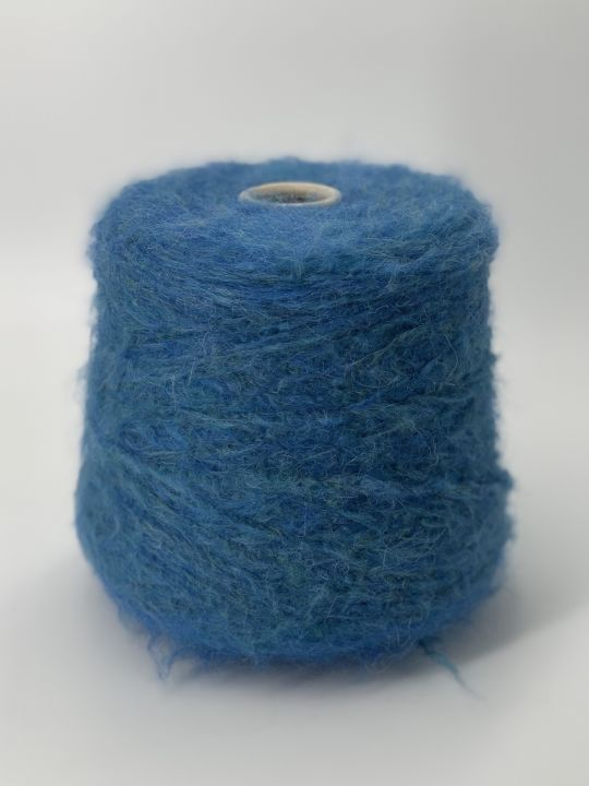 Толстый суперкидмохер Pecci filati Apple цвет лазурно-синий