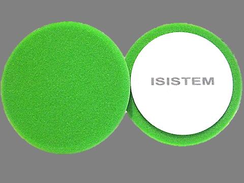ISISTEM Полировальный круг из поролонa D150 mm T30 mm среднежесткий зеленый Profi Green