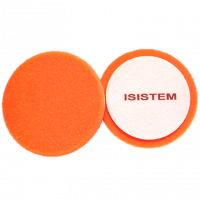 ISISTEM Полировальный круг из поролонa D150 mm T30 mm жесткий оранжевый Norma 30 orange