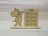 Календарь из фанеры с мышкой Джерри