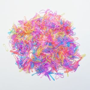 Силиконовые резинки для волос, диаметр 20 мм, ширина 2 мм, цвет: яркие неон (1уп = 50г ~1100шт)
