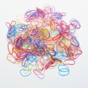`Силиконовые резинки для волос, диаметр 25 мм, ширина 2,3 мм, цвет: яркие неон (1уп = 10г ~110шт)