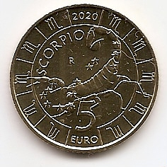 Знак Зодиака Скорпион 5 евро Cан-Марино 2020 на заказ