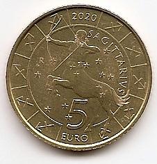 Знак Зодиака Стрелец 5 евро Cан-Марино 2020 на заказ
