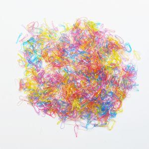 `Силиконовые резинки для волос, диаметр 10 мм, ширина 1,5 мм, цвет: яркие неон (1уп = 10г ~560шт)