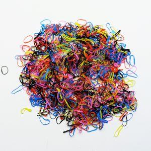 `Силиконовые резинки для волос, диаметр 10 мм, ширина 1,5 мм, цвет: яркие (1уп = 10г ~560шт)