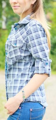 Блуза женская в клетку БЗ-2
