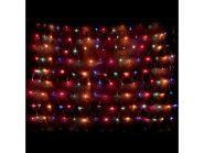 Гирлянда электрическая сетка-рис, 160 ламп, разноцветные, 1,2 x 0,8+ 2 м, с контроллером
