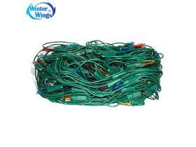 Гирлянда электрическая сетка, 2 x 1,4 м, 320 ламп, прозрачная, цветная, бегущие огни, с контроллером