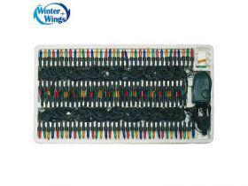 Гирлянда электрическая, 200 ламп, прозрачная, цветная, бегущие огни, с контроллером, 12 + 1,5 м
