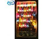 Гирлянда электрическая, 35 ламп, прозрачная, цветная, 2 + 1,5 м