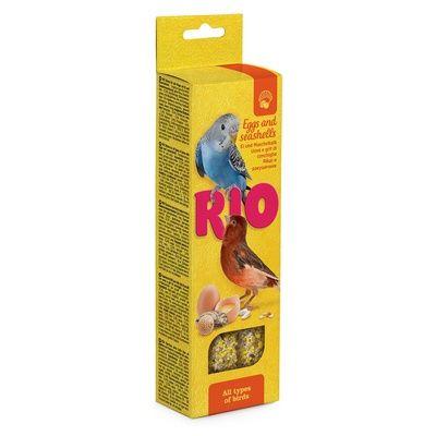 Палочки РИО для всех видов птиц с яйцом и ракушечником 2х40 гр