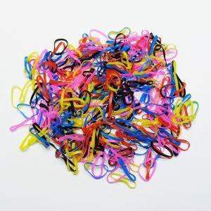 Силиконовые резинки для волос, диаметр 25 мм, ширина 2,3 мм, цвет: яркие №3 (1уп = 50г ~550шт)