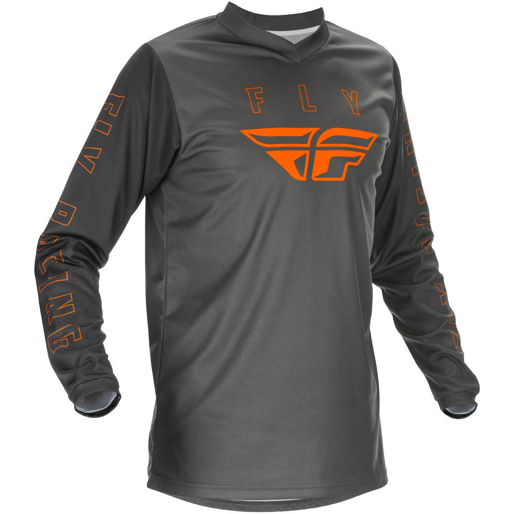 Fly Racing 2021 F-16 Grey/Orange джерси