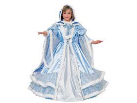 Карнавальный костюм ЗИМА ПРИНЦЕССА В ГОЛУБОМ, полиэстр, размеры: на 8, 10 лет