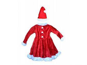 Карнавальный костюм СНЕГУРОЧКА, на 6-8 лет, в комплекте платье, шапка, полиэстер