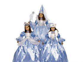 Карнавальный костюм СНЕЖНАЯ ФЕЯ, 3 в 1, полиэстр, размеры: на 6, 8 лет