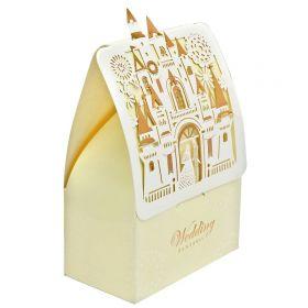 Коробка подарочная складная, 7,4*9,5*3,5 см, лазерн.вырубка