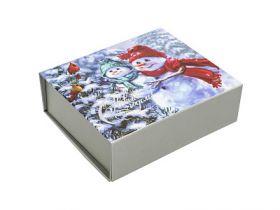 Коробка подарочная, складывающаяся, 1 шт., 15,5х13х5 см, в пакете с европодвесом