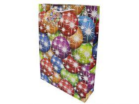 Пакет подарочный бумажный ламинированный, 330х460*102 мм, лазерная печать, голография с тиснением