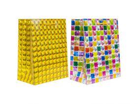 Пакет подарочный бумажный, 3D голография, 18*23*10 см, 2 цвета