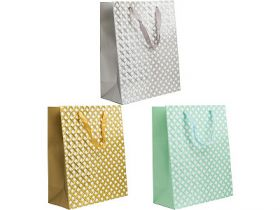 Пакет подарочный ламинированный, 26*32*12 см, с двустор.тиснением, бумага, 3 цвета