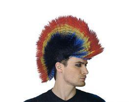 Парик карнавальный ПАНК разноцветный, в пакете