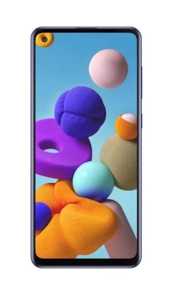 Смартфон Samsung Galaxy A21s 3/32GB BLUE (SM-A217FZBNSER)