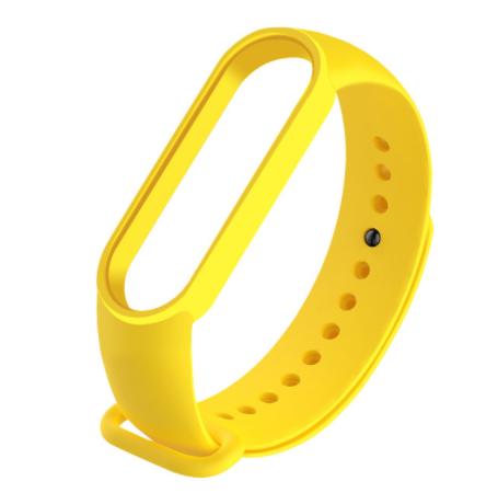 Сменный ремешок на фитнес - трекер Xiaomi Mi Band 5/6 ( Желтый )