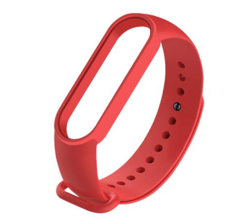 Сменный ремешок на фитнес - трекер Xiaomi Mi Band 5/6 ( Красный )