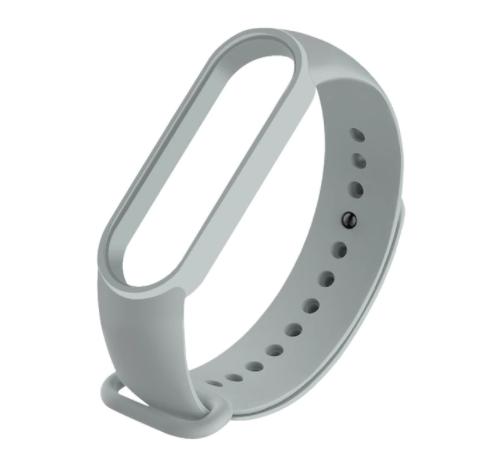 Сменный ремешок на фитнес - трекер Xiaomi Mi Band 5 ( Серый )