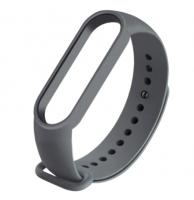 Сменный ремешок на фитнес - трекер Xiaomi Mi Band 5/6 ( Темно-серый )
