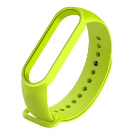 Сменный ремешок на фитнес - трекер Xiaomi Mi Band 5 ( Светло-зеленый )